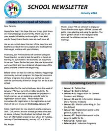 Picture of January 2018 School Newletter